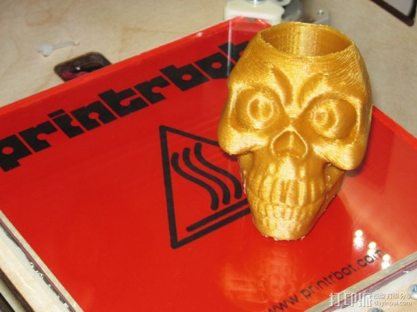 骷髅头形骰盅模型 3D打印模型渲染图
