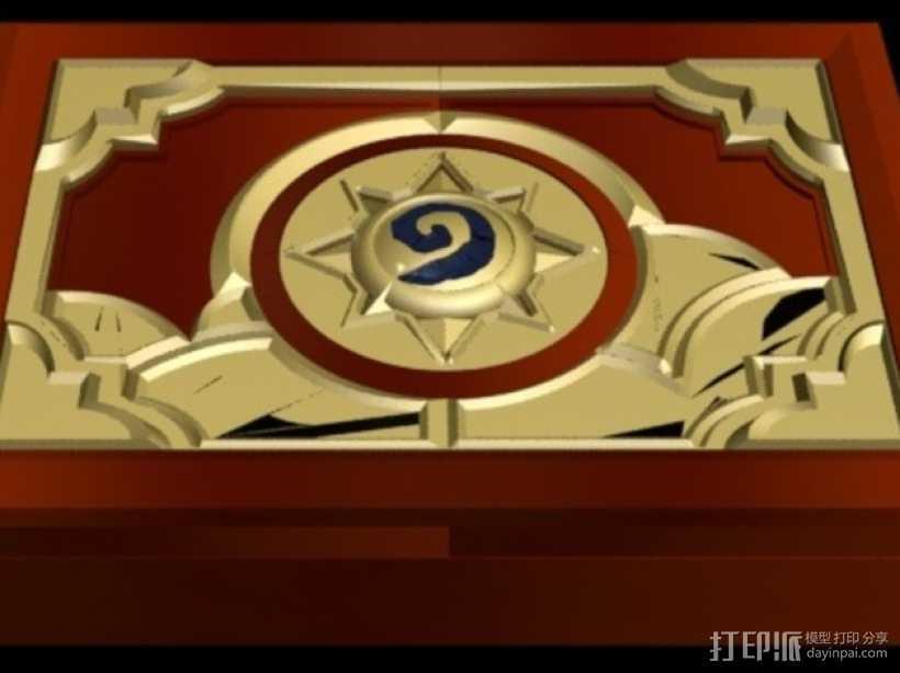 《炉石传说》游戏盒 3D打印模型渲染图