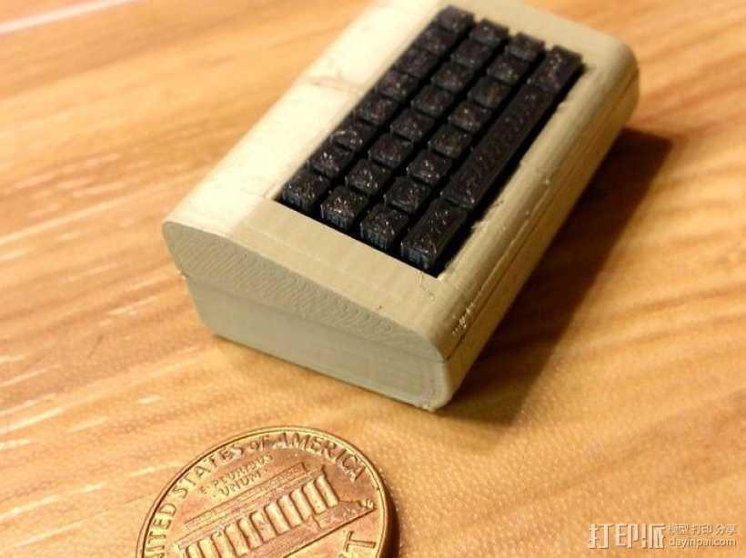 迷你Commodore电脑模型 3D打印模型渲染图