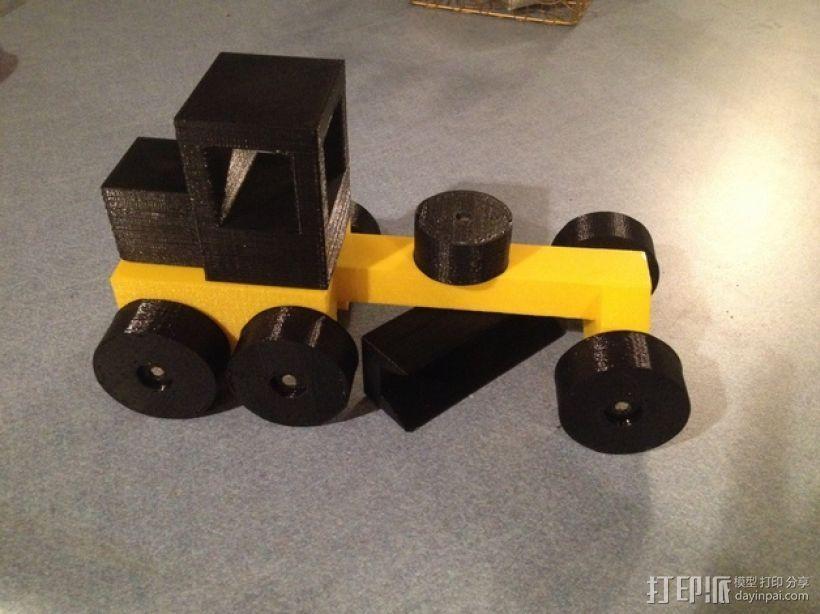 玩具平路机模型 3D打印模型渲染图