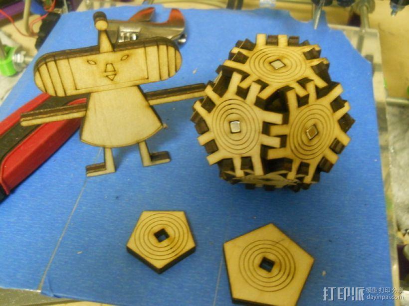 《块魂》游戏套件 3D打印模型渲染图