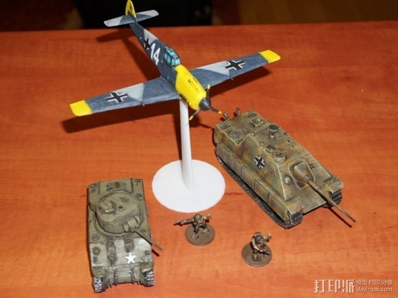 战争游戏:梅塞施米特式战斗机 3D打印模型渲染图