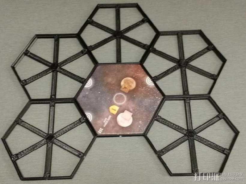 磁力六贯棋瓦片模型 3D打印模型渲染图