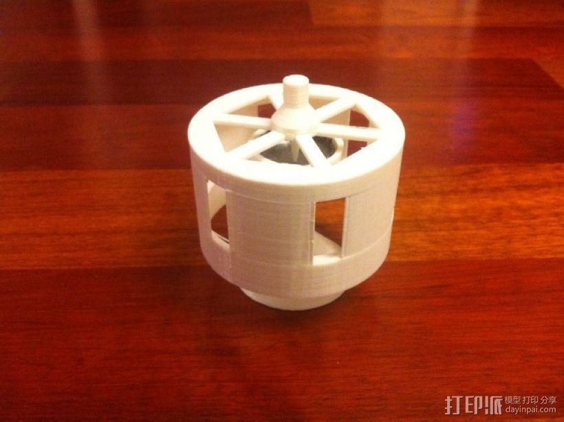 迷你瓶盖陀螺模型 3D打印模型渲染图