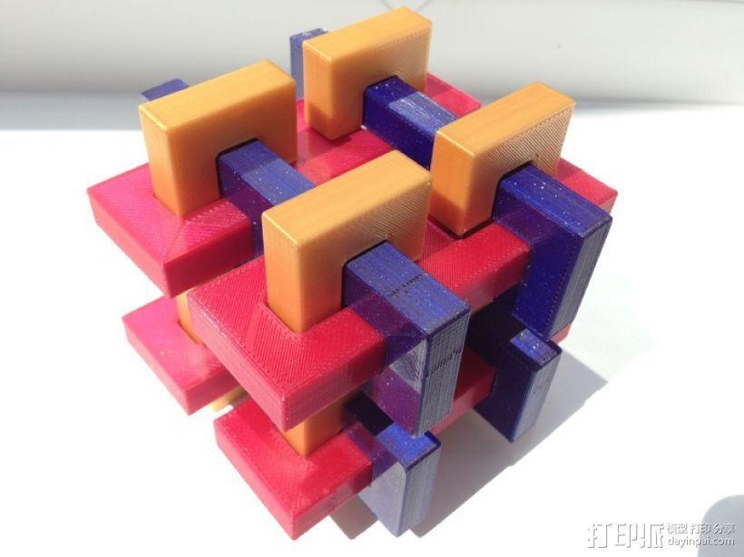 迷你鲁班锁模型3 3D打印模型渲染图
