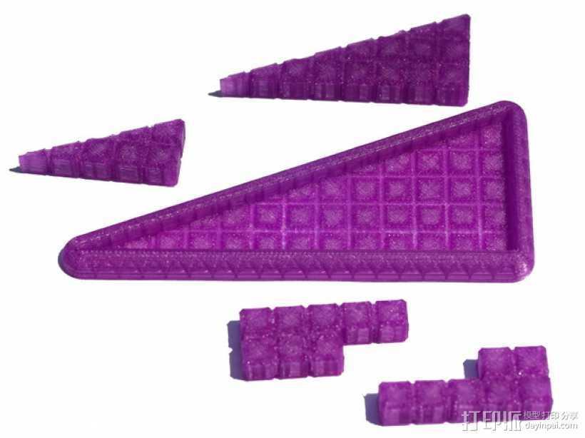 """""""遗失的四边形""""拼图模型 3D打印模型渲染图"""