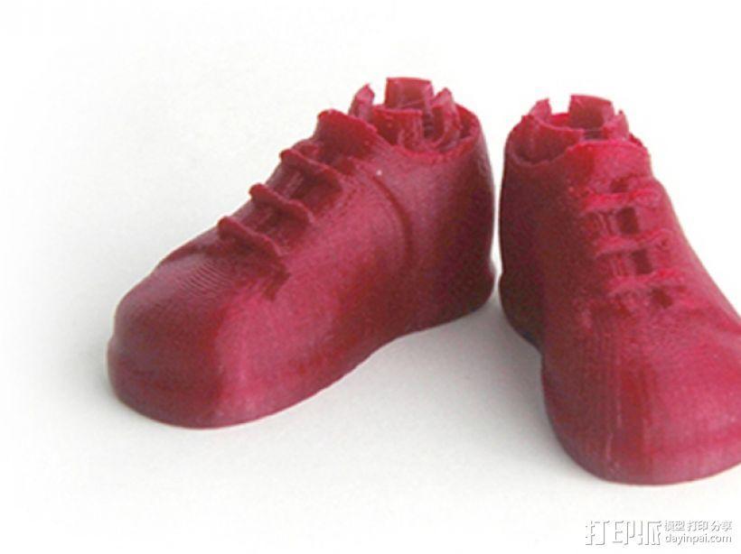 Makies布洛克鞋 3D打印模型渲染图