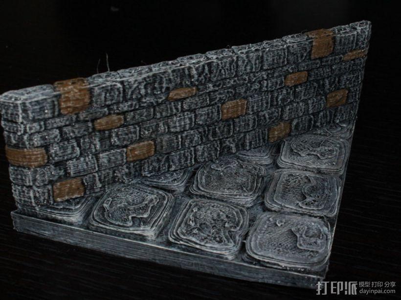 OpenForge地牢斜墙模型 3D打印模型渲染图