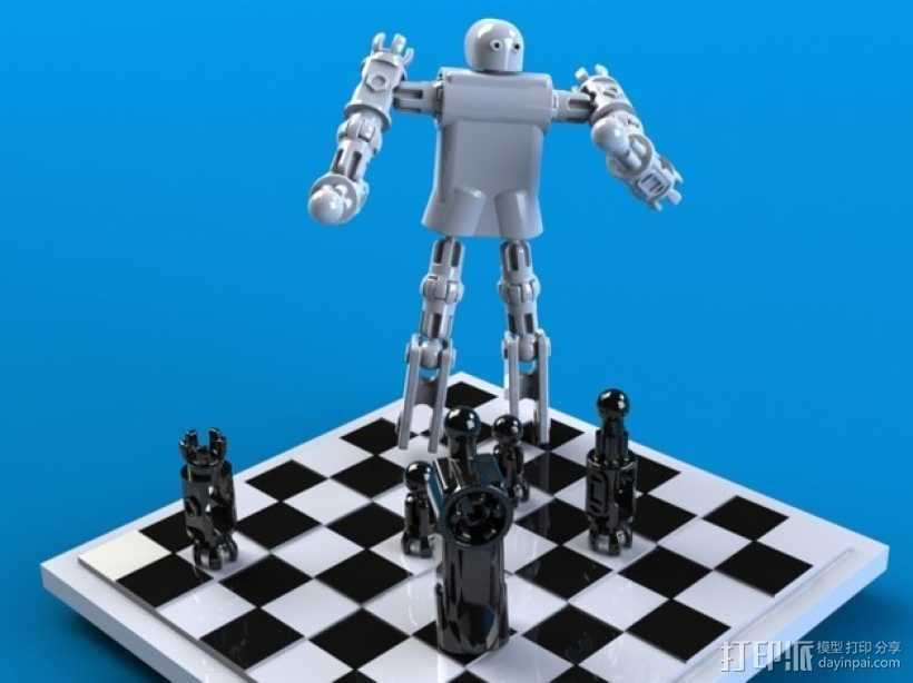 CHE3PO机器人象棋 3D打印模型渲染图