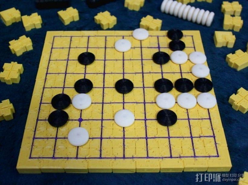 模块化磁力棋盘模型 3D打印模型渲染图