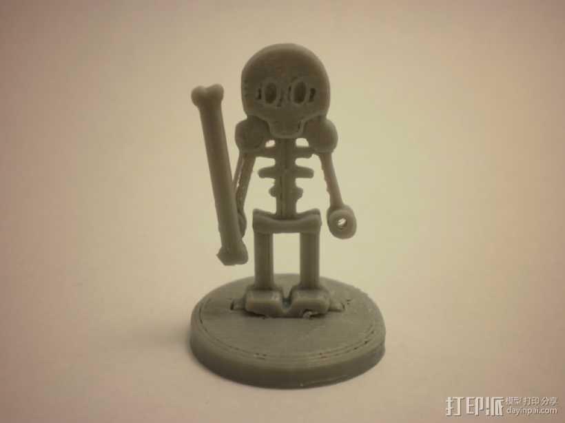 FlatMinis:骨架 3D打印模型渲染图