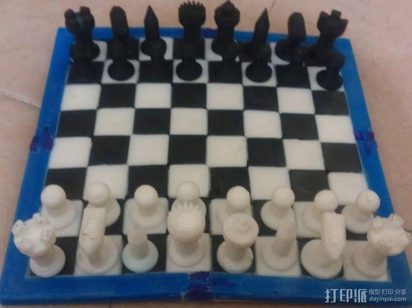 黑暗火焰象棋棋子 3D打印模型渲染图