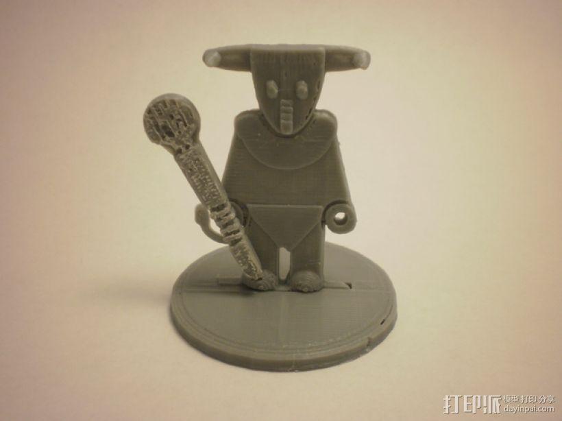 FlatMinis:弥诺陶洛斯牛头人 3D打印模型渲染图