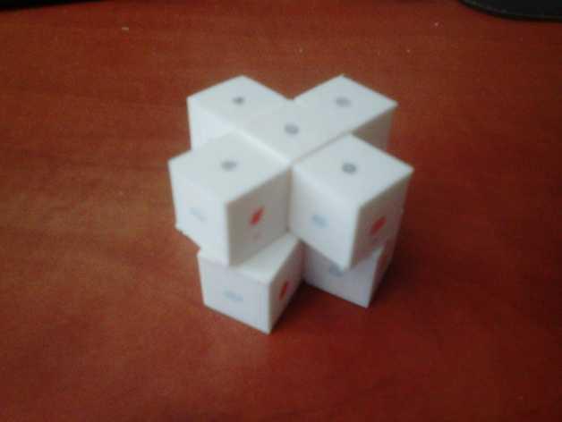 迷你十字立方体 3D打印模型渲染图