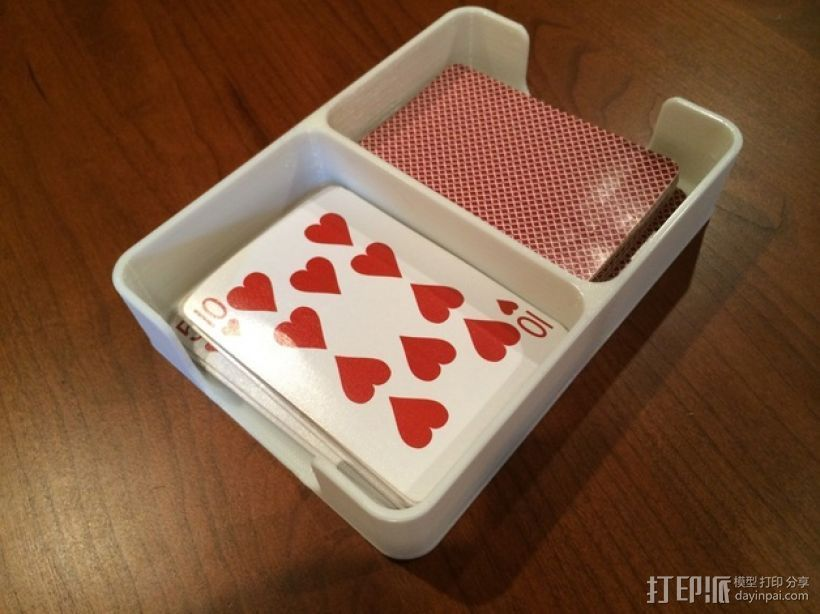 扑克牌收纳盒模型 3D打印模型渲染图