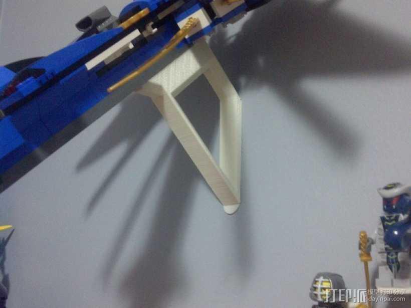 乐高玩具船墙角固定架模型 3D打印模型渲染图