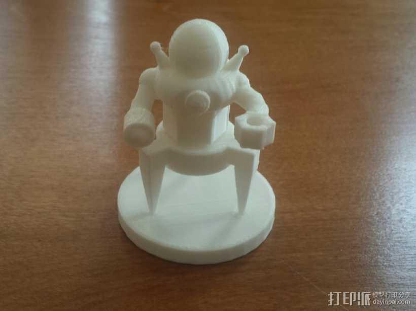 东京之王:Alienoid怪兽模型 3D打印模型渲染图