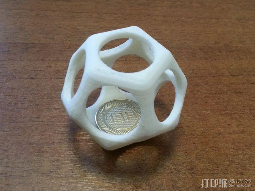 十二面体镂空立方体模型 3D打印模型渲染图