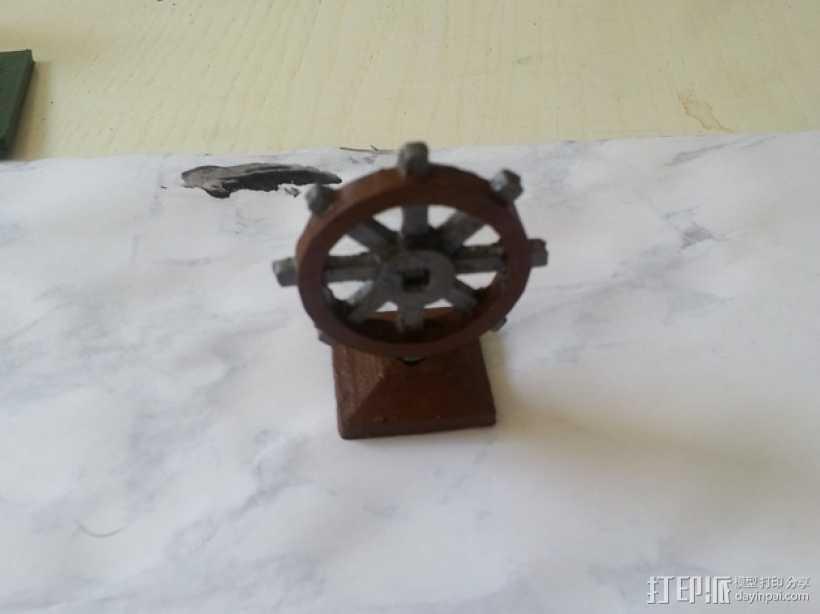 迷你船只舵轮模型 3D打印模型渲染图