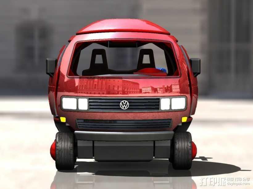 迷你大众T3玩具车模型 3D打印模型渲染图