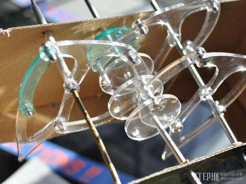 仿生兽行走装置 3D打印模型渲染图