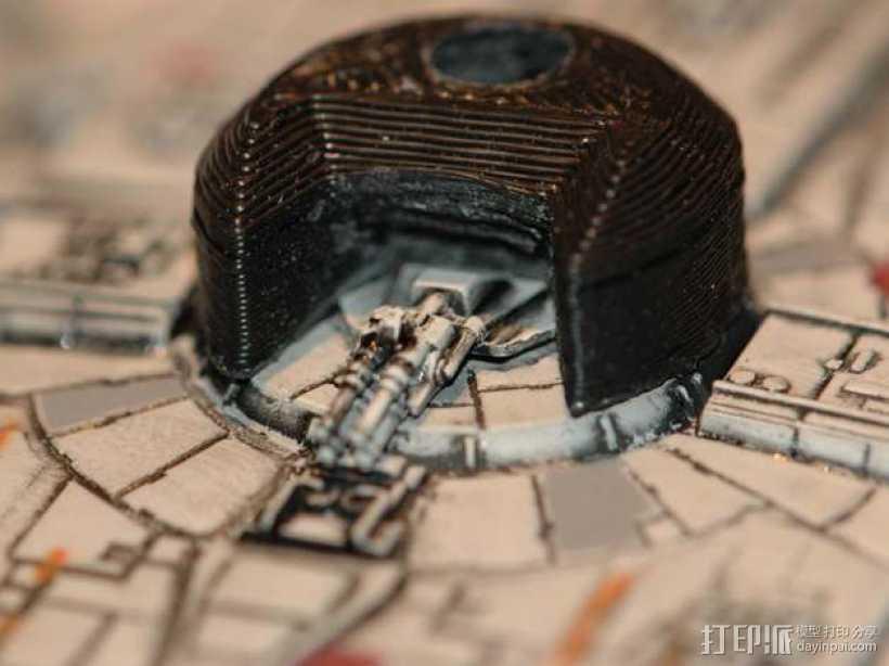 "X翼战机:""千年隼号""助力器模型 3D打印模型渲染图"
