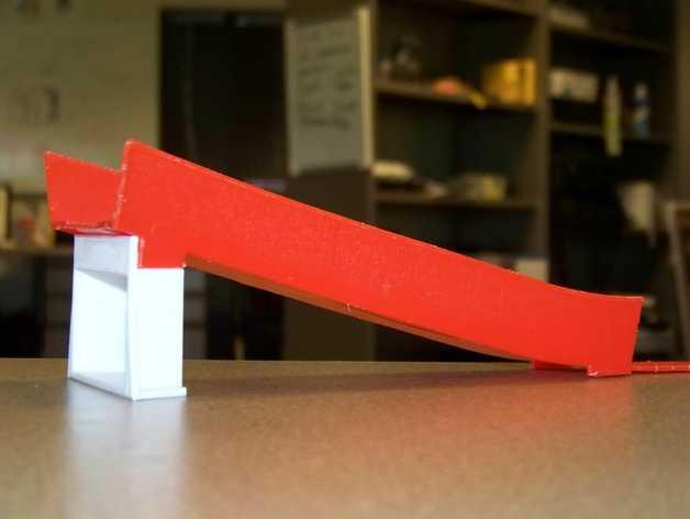 风火轮小汽车赛道支撑物 3D打印模型渲染图