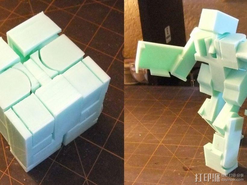 BlockBot v2机器人玩偶 3D打印模型渲染图