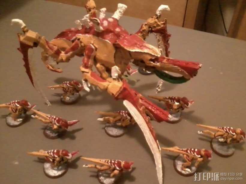 战锤40K:泰伦虫族泰坦巨虫 3D打印模型渲染图