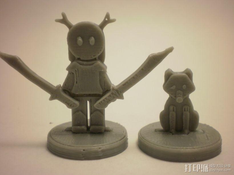 FlatMinis:德鲁伊  3D打印模型渲染图