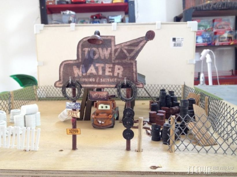 拖车板牙回收站模型 3D打印模型渲染图