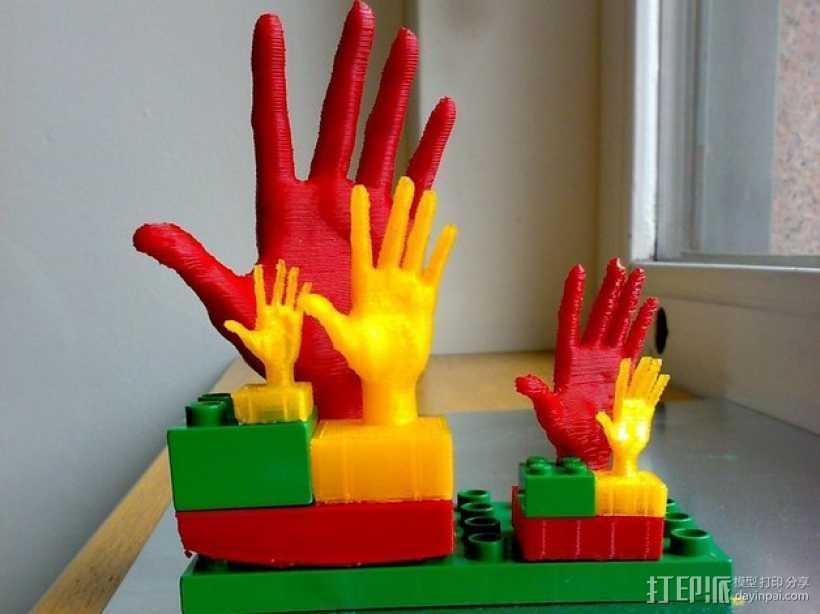 得宝手形玩具方块模型 3D打印模型渲染图