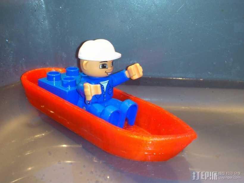 迷你得宝玩具船模型 3D打印模型渲染图