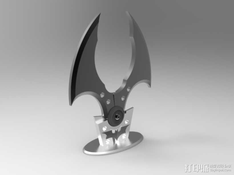 个性化蝙蝠镖模型 3D打印模型渲染图