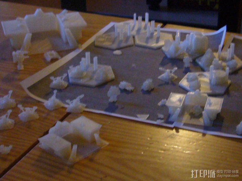 迷你桌游基地模型 3D打印模型渲染图