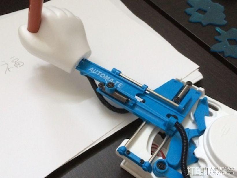 会写中国字的Automa-te机械手臂 3D打印模型渲染图