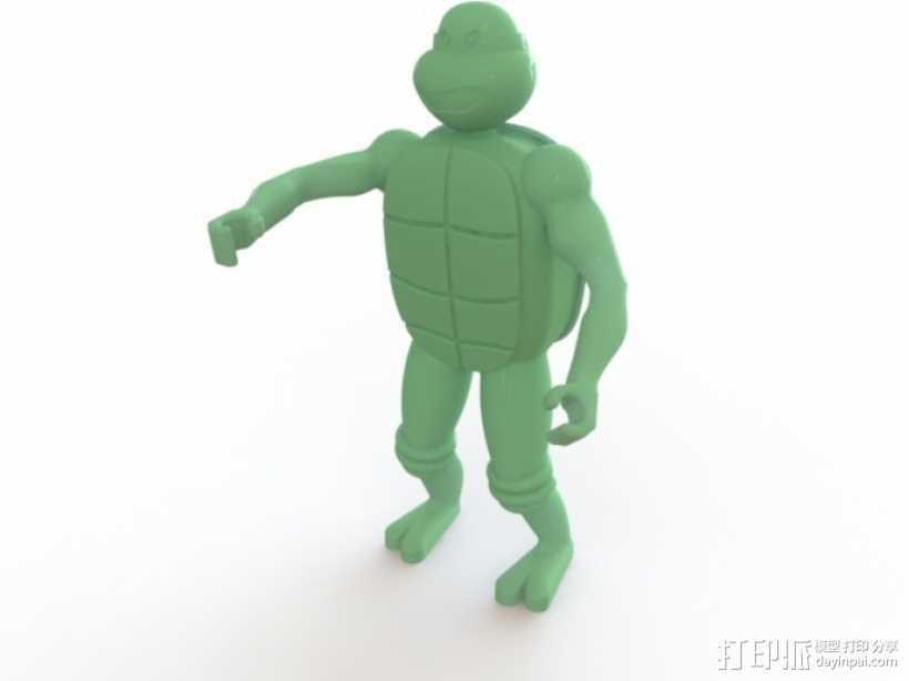 迷你忍者神龟模型 3D打印模型渲染图
