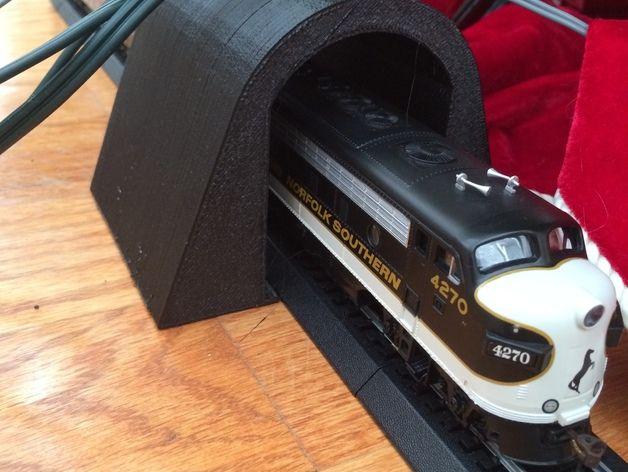 HO玩具火车隧道模型 3D打印模型渲染图