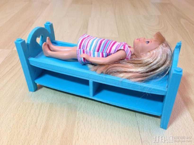 迷你玩偶床模型 3D打印模型渲染图