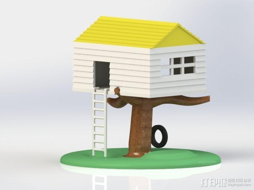 迷你树屋模型 3D打印模型渲染图