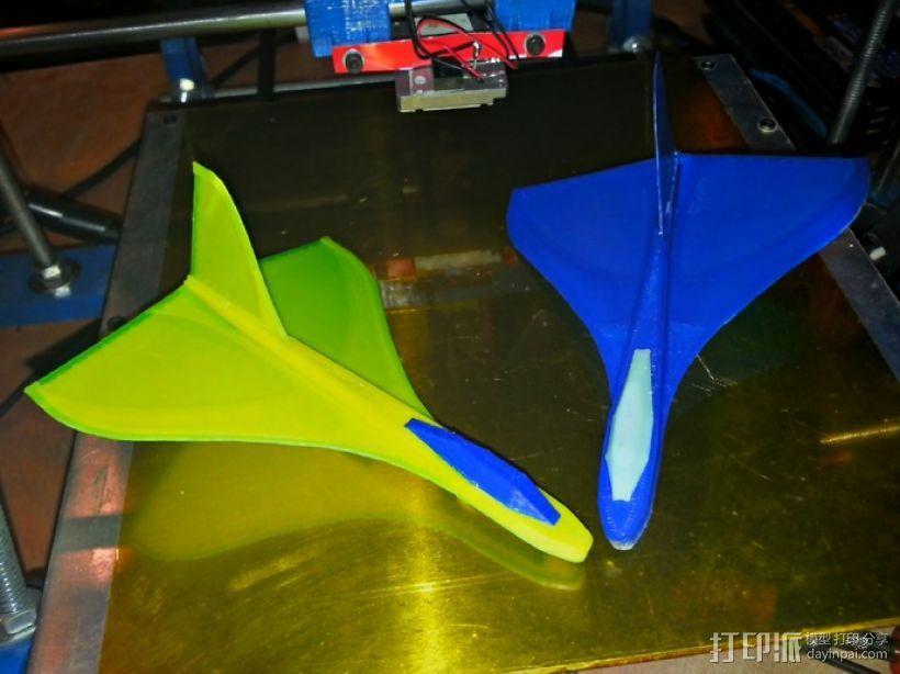 滑翔机形飞镖模型 3D打印模型渲染图