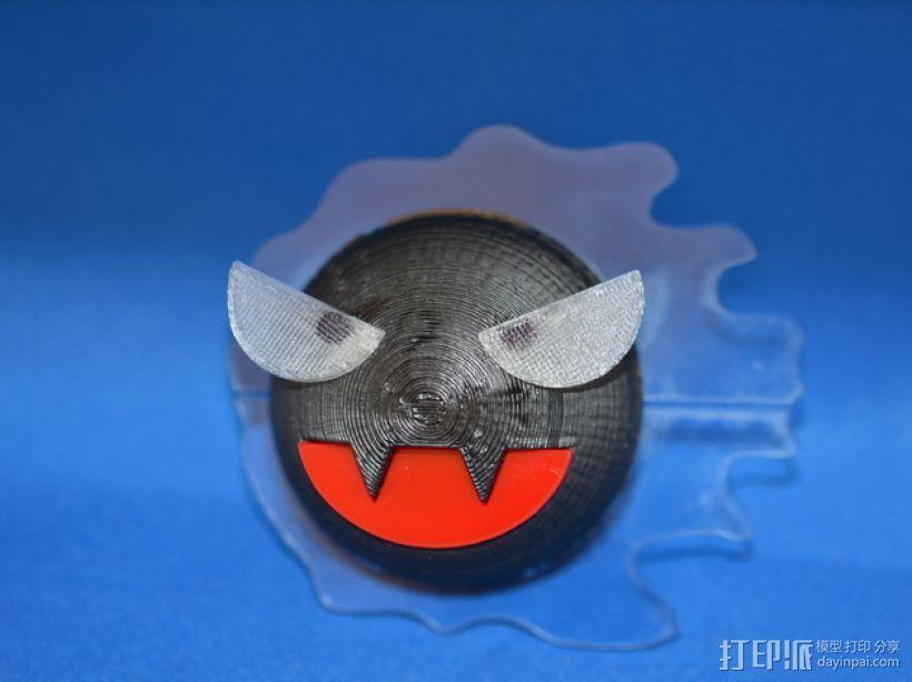 神奇宝贝:鬼斯 3D打印模型渲染图