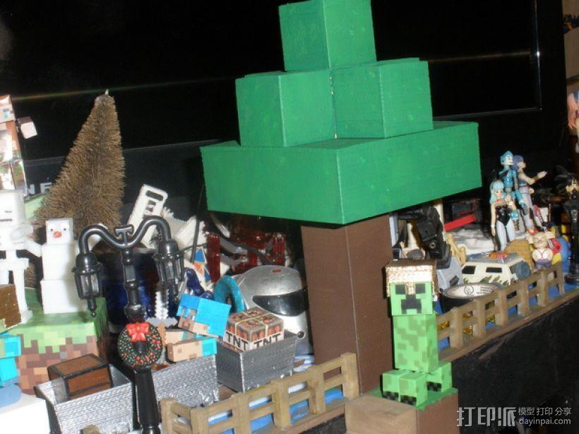 Minecraft树木模型 3D打印模型渲染图