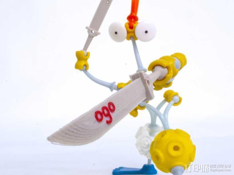 Ogo刀剑模型 3D打印模型渲染图