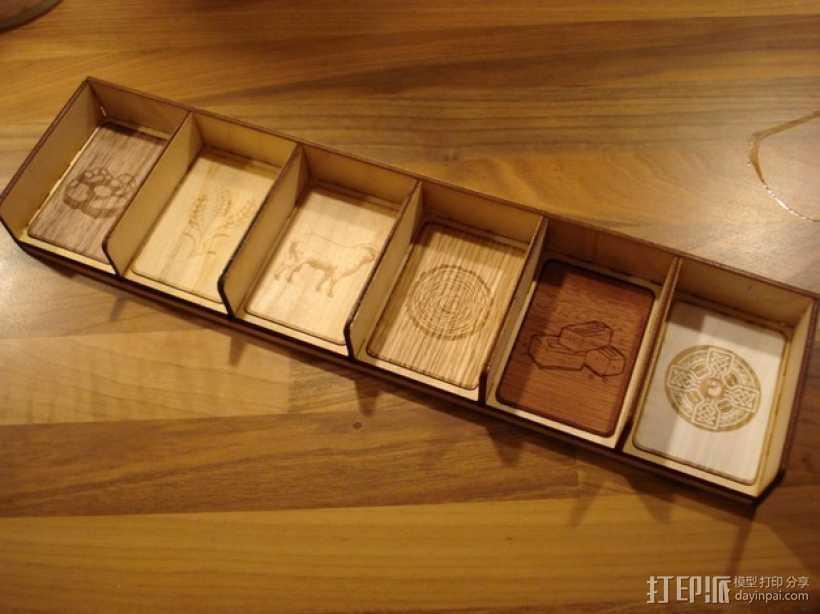 卡坦岛多格游戏卡盒模型 3D打印模型渲染图