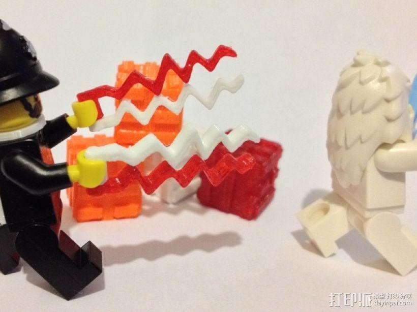 乐高闪电之刃模型 3D打印模型渲染图