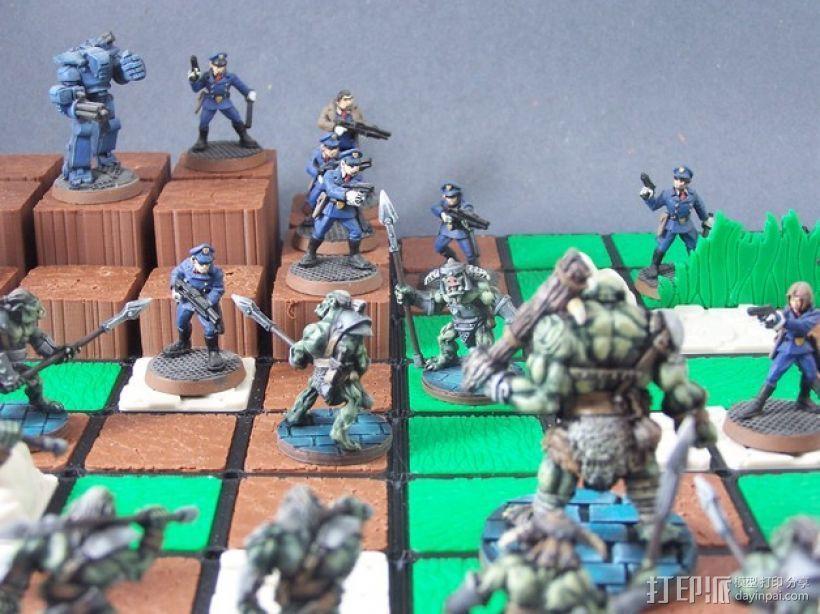 模块化的游戏基地模型 3D打印模型渲染图