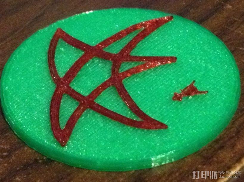 迷你小星星印章模型 3D打印模型渲染图