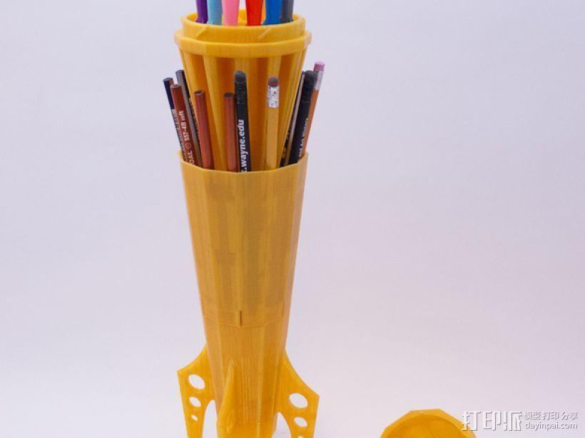 火箭 铅笔盒 3D打印模型渲染图