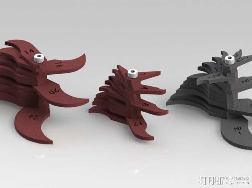 半径量规 3D打印模型渲染图